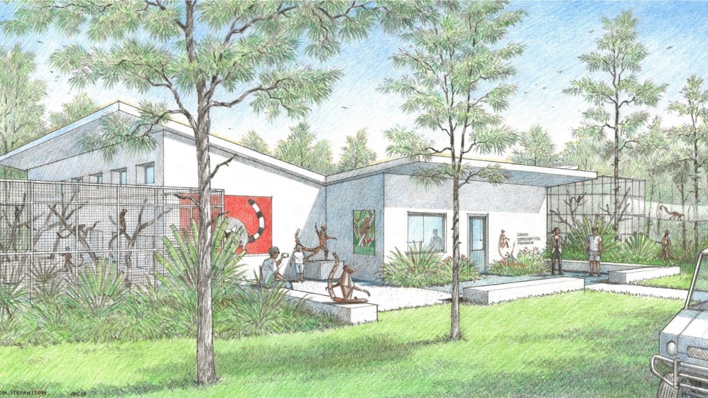 The third lemur building concept design by Jón Stefánsson. Rendering by John R. Collins.