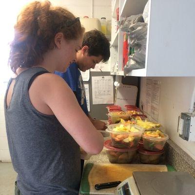 Food prep for LCF lemurs