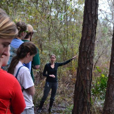 LCF Executive Director Dr. Alison Grand guiding a reserve tour