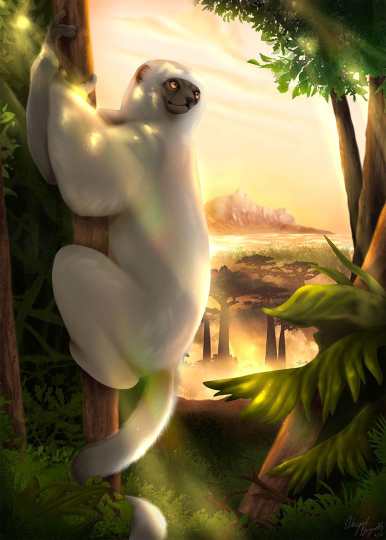 2021 4th Annual World Lemur Festival Art winner Abbey Brynolf